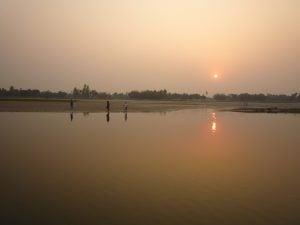 Sunset on the Teesta river