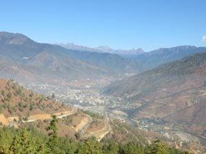A view of Thimphu, Bhutan's sprawling capital (Image: Doug Knuth)
