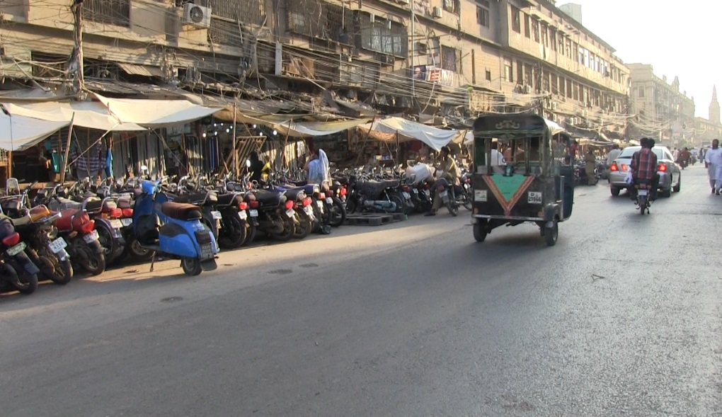 The biggest challenge for Pakistan is its number of motorcycles and three wheelers [image by: Zofeen T. Ebrahim]