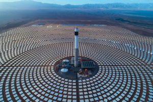 A Chinese-funded solar farm in Morocco.