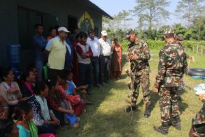 In the buffer zone of the Chitwan national park, the Nepal Amry's relations with locals have moved from conflict to cooperation [image by: Mukesh Pokhrel]