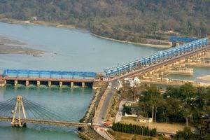 India, Uttarakhand, Haridwar, dam on the Ganga [image: Alamy]