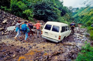 Landslide on the China-Nepal border are projected to increase alarmingly [image: Alamy]
