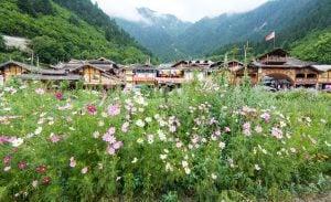 Shuzheng village, Jiuzhaigou, on the edge of the Tibetan Plateau in China's Sichuan province (Image: Alamy)