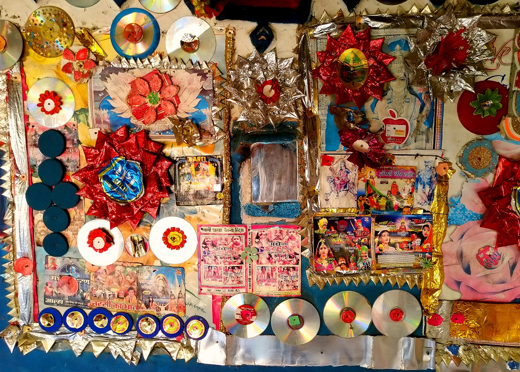 Details of her craft from covering various parts of her house
