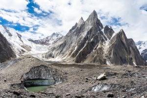 Nuding pyramids and Nuding glacier, Baltoro glacier, Karakoram, Pakistan [image: Alamy]