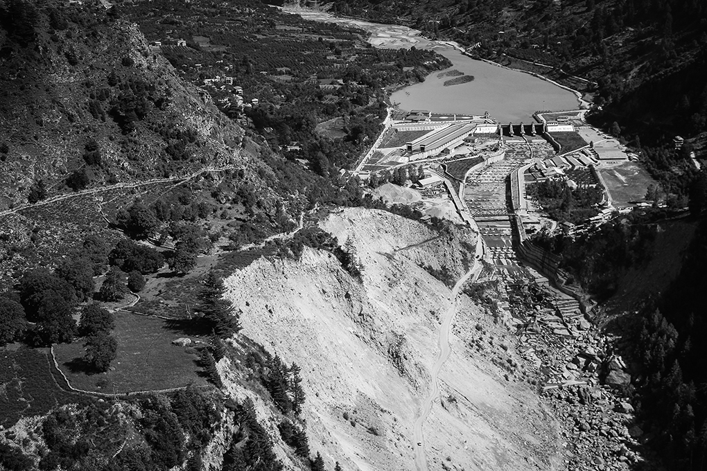 Damsite of Baspa 2 hydroelectricity project in Sangla valley, Kinnaur, Himachal Pradesh