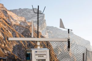 Weather station at Machapuchare Base Camp, Himalayas, Nepal. Ashley Cooper / Alamy Stock Photo