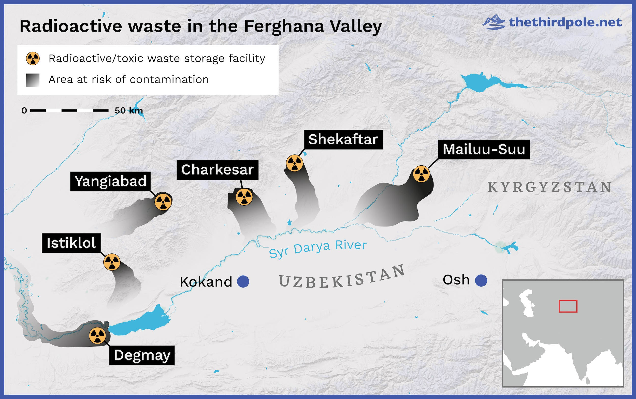 Radioactive pollution in Central Asia