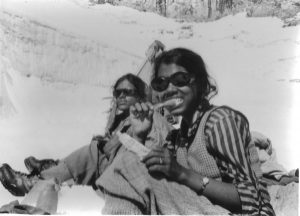 The expedition to climb Lalana was an adventure that none of the people on it would forget; Sudipta (right) and Kamala [image by: Sudipta Sengupta]