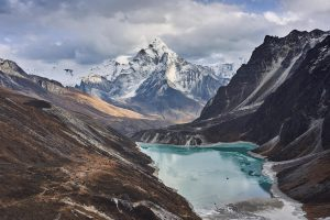 A glacial lake in front of Ama Dablam, a mountain in Nepal [Image by: Zoonar GmbH/Alamy]