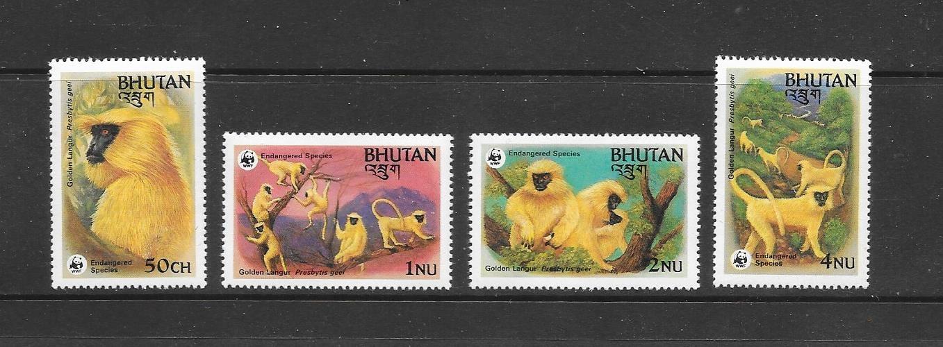 Golden langur stamps
