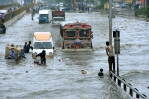 Karachi flood Pakistan.