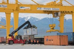 Dry port Kazakhstan, Theodore Kaye / Alamy