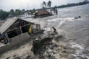 destroyed home suburbans rising sea