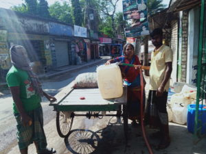 buying water in Shyamnagar Satkhira Bangladesh