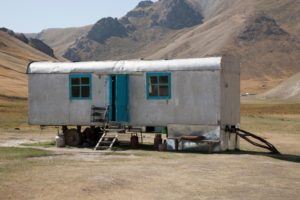 Converted railway carriage, Kyrgyzstan