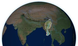 Irrawaddy River on map