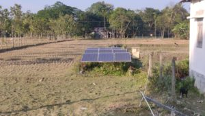 water pumps drawing water of solar in Dholaguri