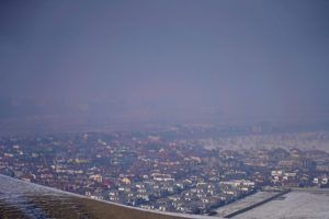 Freezing temperatures combine with coal burning and traffic fumes to create hazardous air pollution in the Central Asian cities