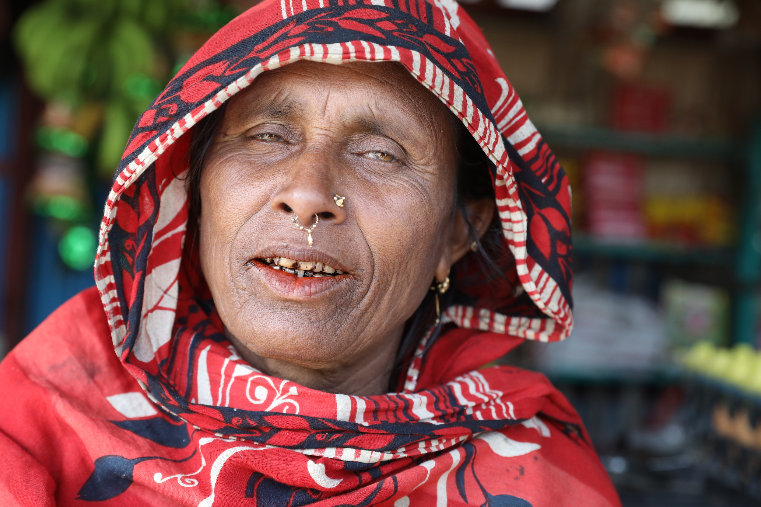 sardar woman with piercing nomad Bhola river