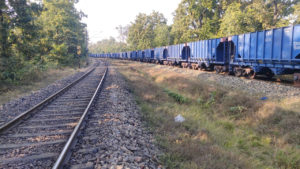 Long freight trains carrying coal often pass through the Palamu Tiger Reserve [Image by: Gurvinder Singh]