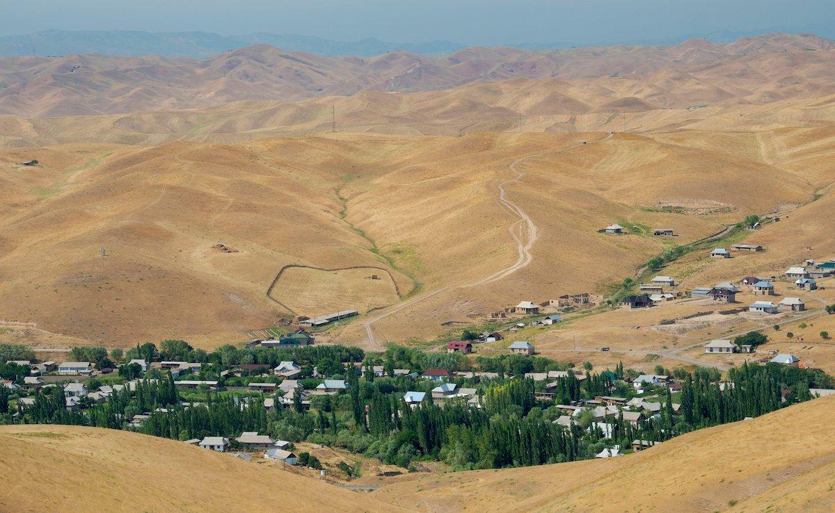 Fergana Valley close to the border to Uzbekistan. Asia, central Asia, Kyrgyzstan