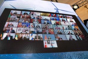 The virtual Leaders Summit on Climate on 23 April (Image: Alamy)