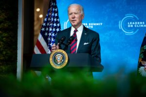 US president Joe Biden at the Leaders Summit on Climate