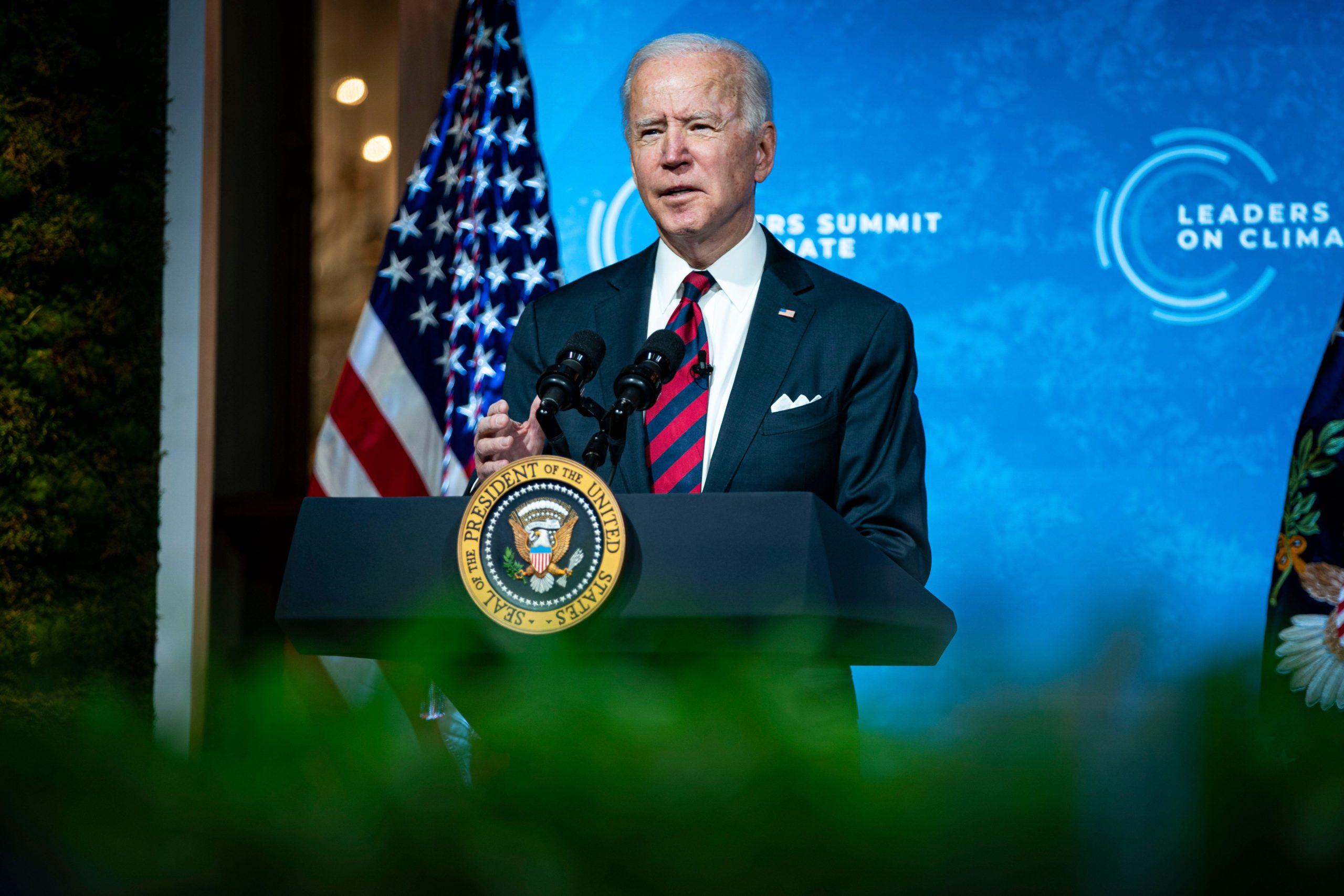 US president Joe Biden at the Leaders Summit on Climate