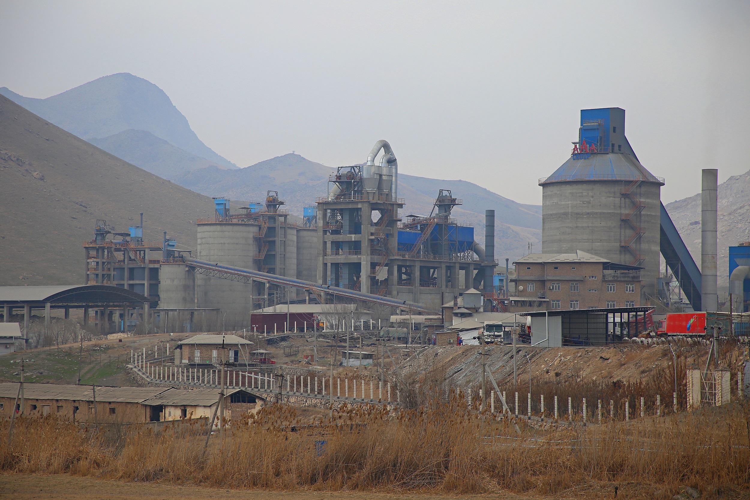 The YUKSM cement plant in Aravan district.