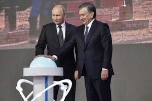 Vladimir Putin and Shavkat Mirziyoyev launch the construction of the nuclear power plant