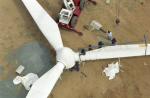 wind turbine, Tamil Nadu, India, Joerg Boethling / Alamy