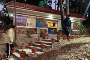 One of Aerosan Toilets' four public toilets in the Kathmandu valley (Image: Aerosan Toilets)
