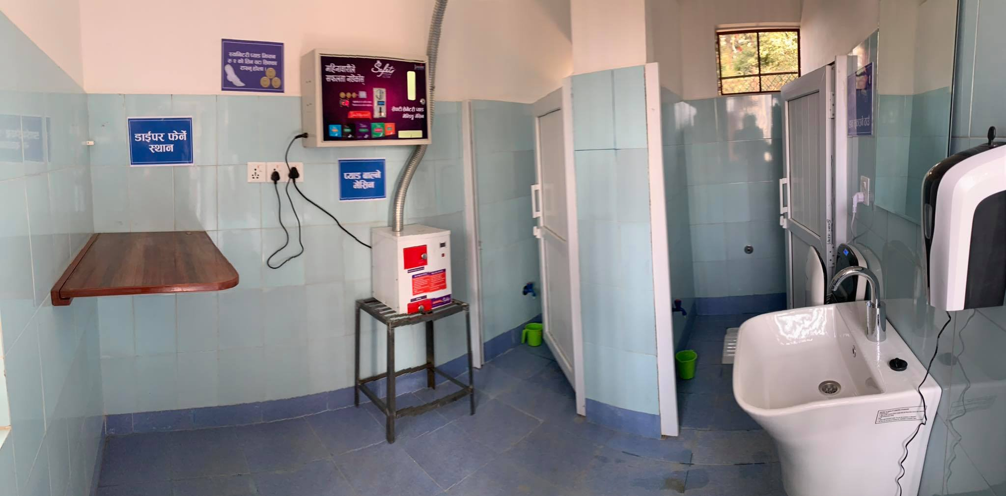 Picture of interior of Aerosan toilet in Kathmandu, Nepal