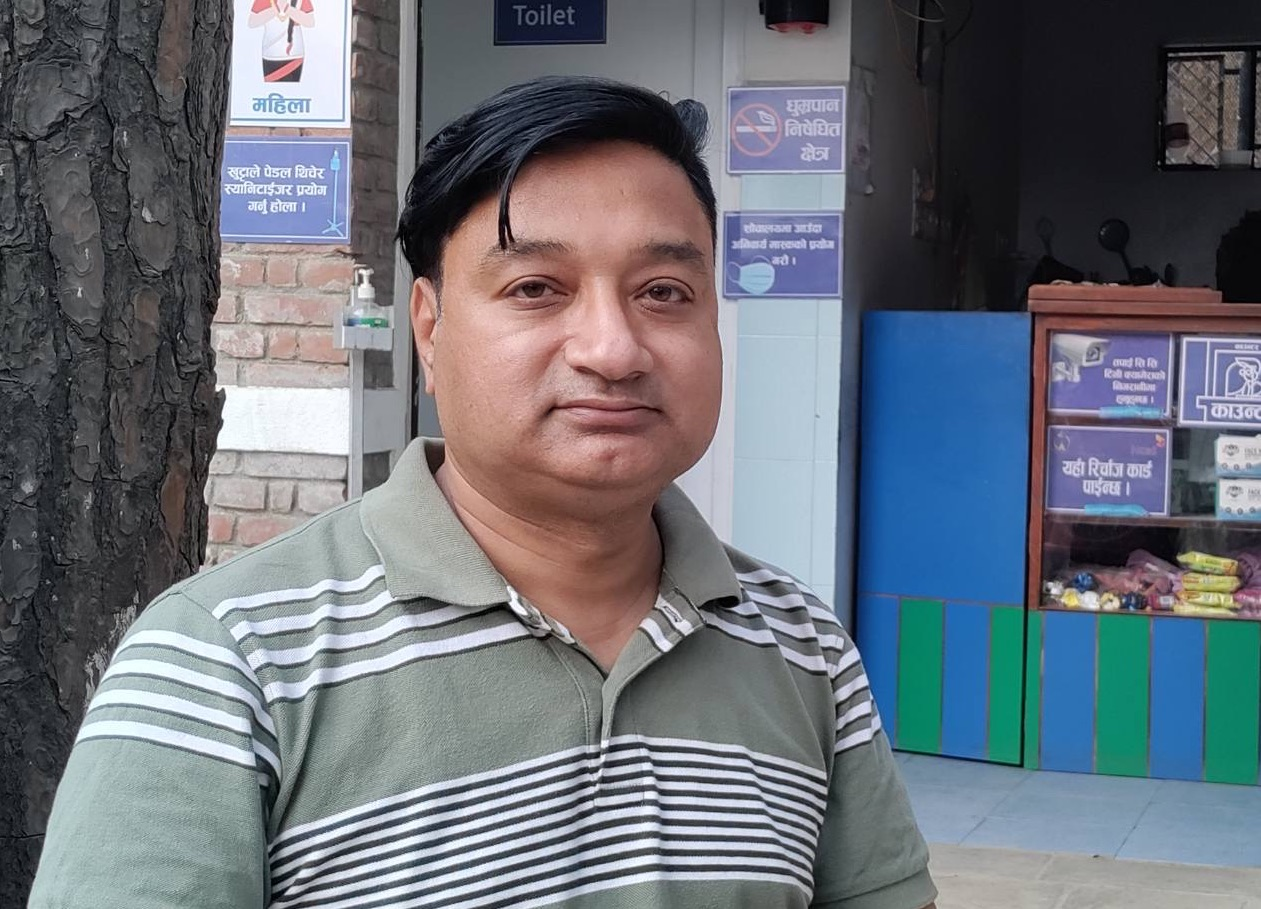 Prakash Amatya, Aerosan Toilets's country representative for Nepal