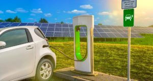 Clean energy is needed for electric vehicle charging points to improve India's overall air quality (Image: Alamy)