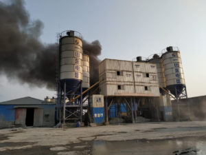 Fire on April 17, 2021 at SS Power One coal plant at Banshkhali, Chittagong, Abu Azad
