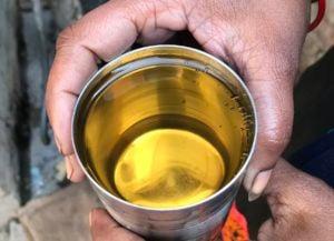 Groundwater sample India Khatauli village Uttar Pradesh
