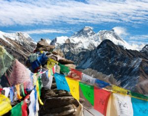 View of Mount Everest on China-