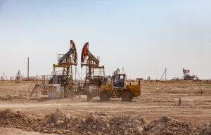 Oil rig Kazakhstan