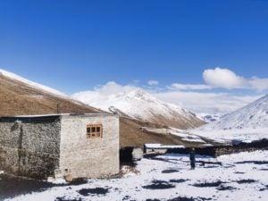 A pilot bear-proof house in Ganda village