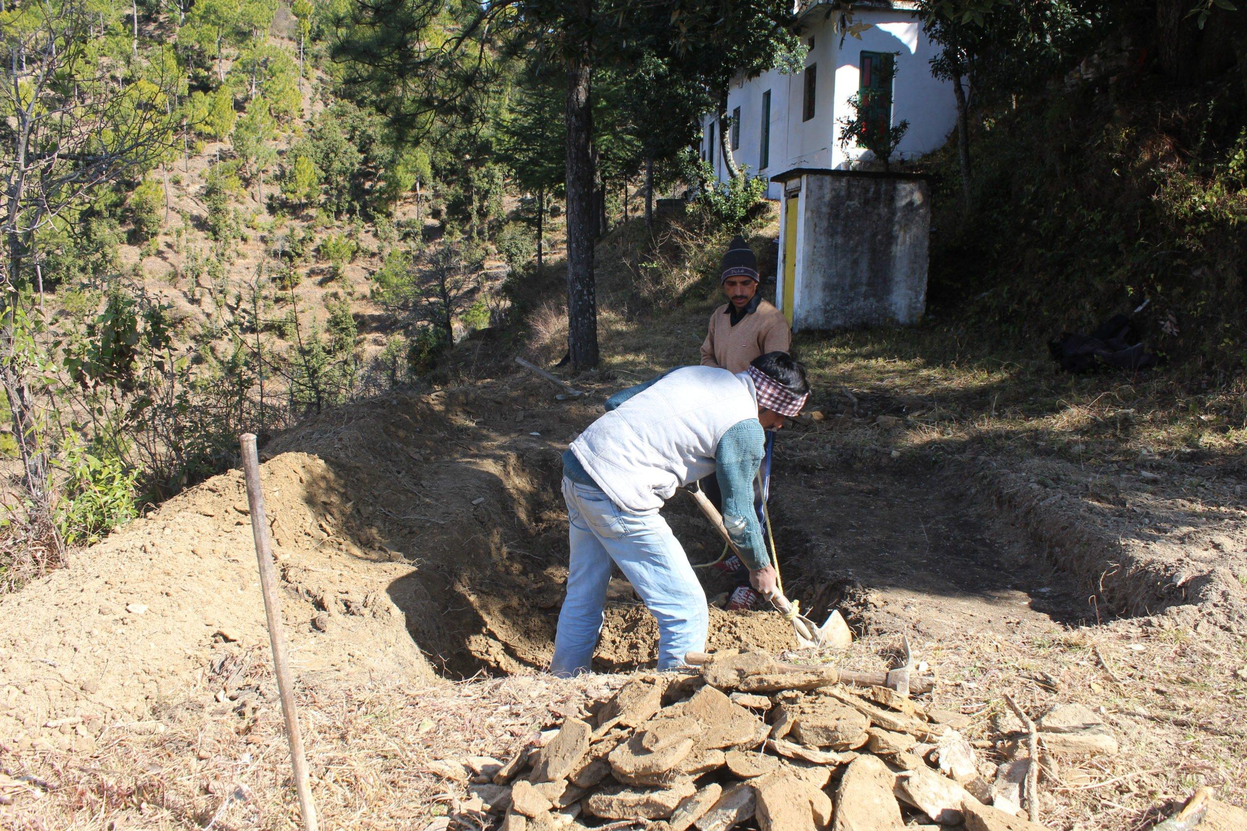 Locals dig recharge pits in Nainital, Uttarakhand, Riyan Habeeb