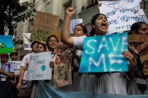 A Fridays for Future March for Climate Justice in Kolkata, India in September 2019.