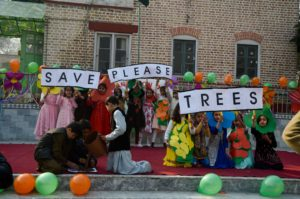 """""""Planting a tree"""" celebrations are carried out at the Elisabeth High School in Peshawar, Pakistan in February 2020, where there is a push for a greener CPEC (Image: Alamy)"""
