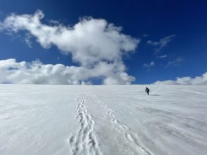 Walking on glaciers in the Tian Shan