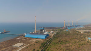 A coal-fired power plant on the seashore at Paiton, East Java province, in Indonesia (Image: Alamy)