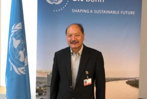 Sonam P Wangdi, chair of the Least Developed Countries Group at COP26, Image National Environment Commission Bhutan
